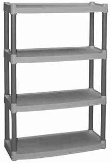Plano 4-Shelf Storage Unit, Light Taupe by Plano
