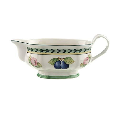 Villeroy & Boch French Garden Fleurence Saucière, 400 ml, Porcelaine Premium, Blanc/Multicolore