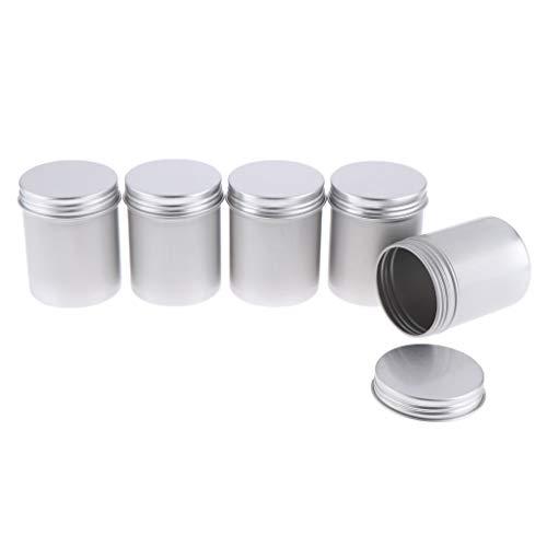 MERIGLARE 5X 80ml Tarro De Lata De Aluminio Cosmético Contenedor Vacío Latas De Bálsamo Labial