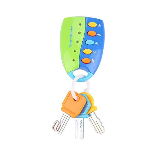 Omabeta Control Remoto Cerradura de Llave de Coche Juguete de simulación Llave de Coche Juguete de bebé Juguete de Cerradura de Llave de Coche Juguete de Inteligencia no tóxico para niños(Blue)