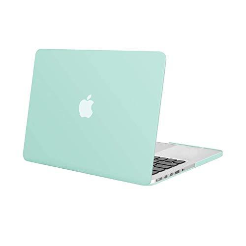 MOSISO Funda Dura Compatible con MacBook Pro 13 Retina A1502 / A1425 (Versión 2015/2014/2013/fin 2012), Ultra Delgado Carcasa Rígida Protector de Plástico Cubierta, Verde