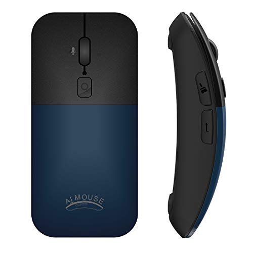 PFUDON BM01 Smart Voice Vertaling Wireless Mouse (grijs) (Color : Blue)