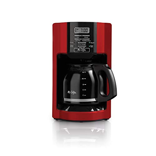 Drip Coffee Maker Red 12 Cup Automatic Freshness For a Modern Kitchen Maine