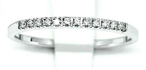 Anello Fedina Gemoro in oro bianco e diamanti FF045BIA 12 brillanti misura 15