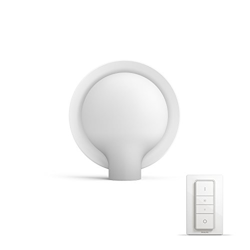 Philips Hue Felicity Lampe de Table White Ambiance White 9.5W E27 [Interrupteur avec Variateur Inclus], Lampe Connectée - Lumière Led Blanche Naturelle - Compatible avec Apple Homekit, Alexa