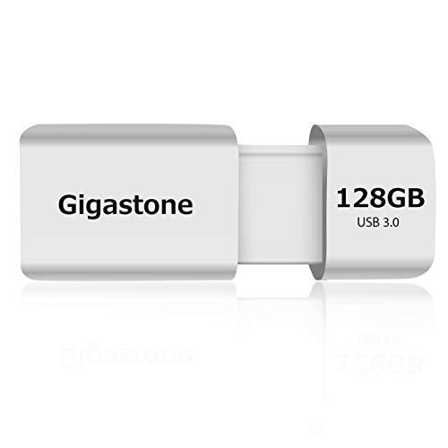 Gigastone Z60 Clé USB 3.0 128 Go, Compact Lecteur de Stylo à Performance fiable pour PC Ordinateur Mac, Compatible avec l'interface USB 2.0 / USB 3.1 Fit en Métal étanche, Mini Imperméable et Robuste