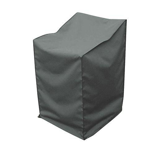 greemotion Abdeckhaube für Stapelstühle - Schutzhülle in Grau - Gartenmöbel-Abdeckung - Wetterschutz-Hülle mit Zugband - Abdeckung Gartenstuhl - Wetterschutzhaube für Outdoor-Möbel