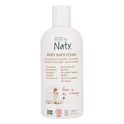 Eco by Naty, Bouteille de Bain moussant écologique pour bébé, 200ml.