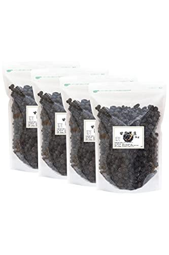 自然健康社 甘露黒豆 1kg×4個 黒豆しぼり 甘さ控えめ 北海道産 国産 甘納豆 黒豆絞り チャック付き袋入り