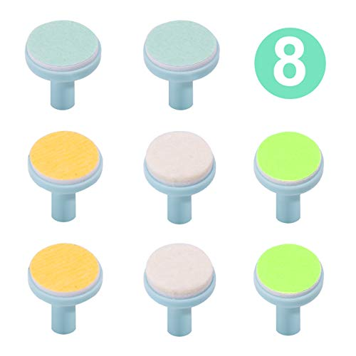Baby Nail File Replacement Pads, Grinding Heads Polish Disc for Electric Nail Trimmer by Consevisen and Other Brands, Toes Fingernails Care for Infant Toddler Kids (8 Pack, Teal)
