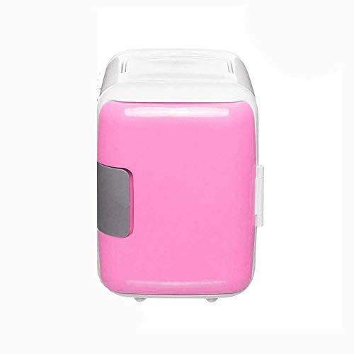 Skysep Estándar 4L Mini Nevera Pequeña Frigorífico Minibar Portatil Compacto Refrigeración y Calentamiento Doble Uso Bebida del Refrigerador para Almacenamiento (Color : Pink)
