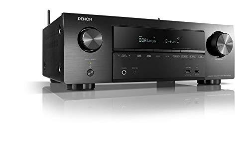 Denon AVRX1500H 7.2-Kanal AV-Receiver (HEOS Integration, Amazon Alexa Steuerung, Dolby Vision Kompatibilität, Dolby Atmos, dtsX, WLAN, Bluetooth, Amazon Music, Spotify Connect, 140 Watt) Schwarz