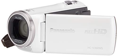 『パナソニック HDビデオカメラ V360MS 16GB 高倍率90倍ズーム ホワイト HC-V360MS-W』のトップ画像