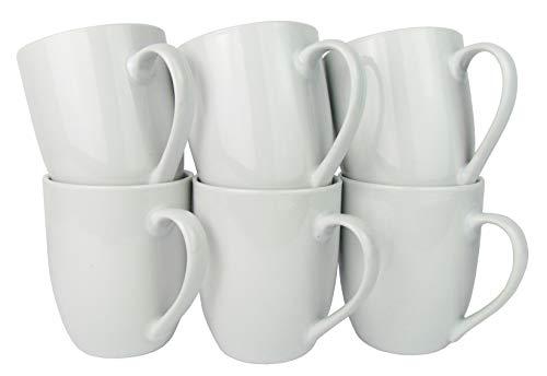 Retsch Arzberg Kaffeebecher/Kaffeetasse, Porzellan, 300ml, weiß (6 Stück im Set)