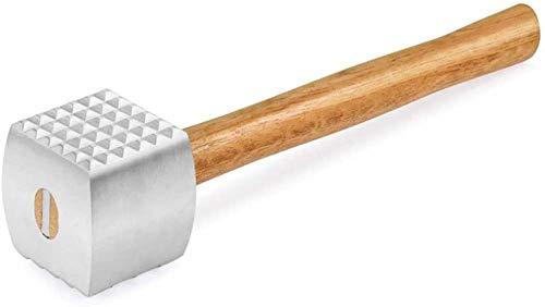 JWCN Fleischklopfer Hammer Hammer Aluminiumlegierung Fleischklopfer Hammer Hochleistungsküchengeräte für Steak Chicken Pork 32cm Uptodate