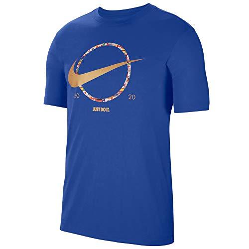 Nike Mens Sports Wear TEE PREHEAT Swoosh CT6871-480 Size XL