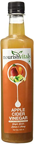 Nourishvitals Apple Cider Vinegar With Ginger, Garlic, Lemon and Honey - 500 Ml