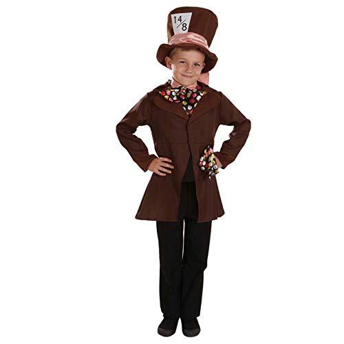 Fun Shack Marrone Mad Hatter Costume per Ragazzi - X-Large
