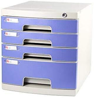 Archivadores Presentar Oficina gabinetes con Cerradura de Datos gaveta de Almacenamiento confidencialidad Organizador de Escritorio Anti-Off Hebilla de plástico PP - 29.5x39.4x32.5cm Caja de Archivo
