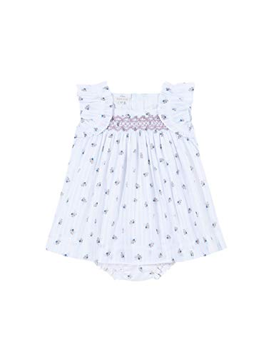 Gocco Vestido Florecitas, Blanco (Blanco S07vvtca201wa), 86 (Tamaño del Fabricante: T: 12/18) para Bebés