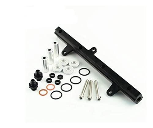 zasilanie i obsługa paliwa Pasuje do Nissana 24 0sx 89-94 S13 SR20DET SR20 Engine Aluminium Top Feed Sail Kit Black (Color : BLACK)