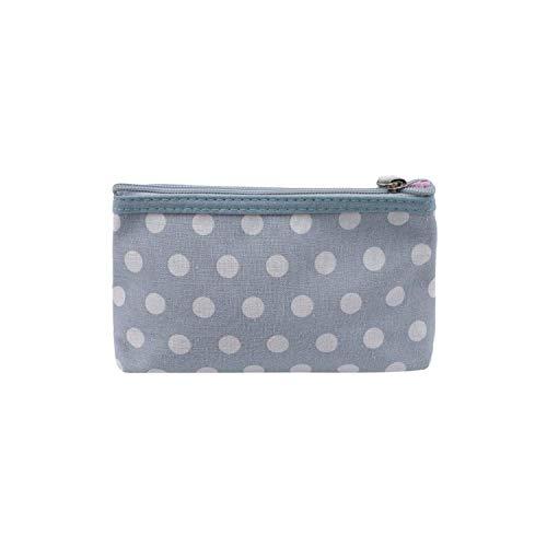 Cosmetic Bag Frauen Zipper Make-Up-Beutel/beweglicher Spielraum-kosmetischer Fall-Organisator-Beutel-Toilettenartikel-Wash-Speicher-Beutel-Himmel Blue- HAIKE (Color : Sky Blue, Size : Size)