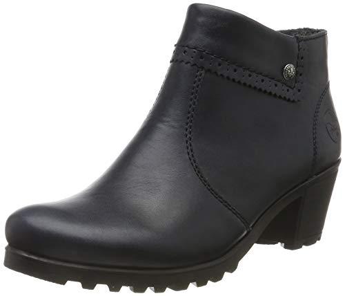 Rieker Damen Stiefeletten M8081, Frauen Ankle Boots, leger Stiefel halbstiefel Bootie knöchelhoch reißverschluss Damen Lady,Navy / 14,39 EU / 6 UK