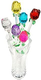 blown glass roses