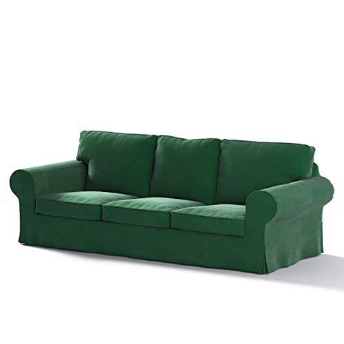 Dekoria Ektorp 3-Sitzer Schlafsofabezug, ALTES Modell Sofahusse passend für IKEA Modell Ektorp grün