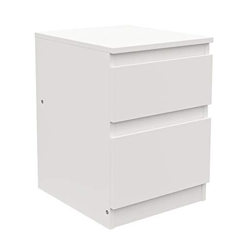 Ikea Kullen Kommode mit 2 Schubladen; in weiß; (35x49cm)