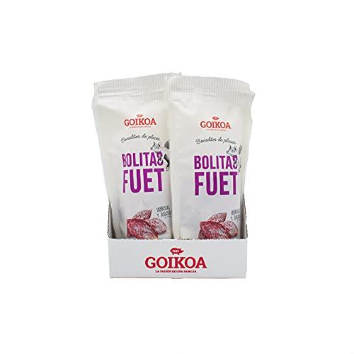 Goikoa Mini Fuet Bolitas para Aperitivos   Sin Gluten  