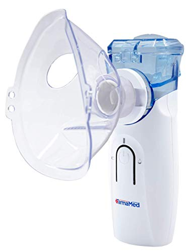 FARMAMED Nebulizador Portátil Tecnología Mesh, Inhalador Eléctrico Silencioso para Adultos y Niños, Fuente de alimentación dual, Baterías o Cable USB