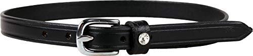 ARBO-INOX® - Sporenriemen aus Leder - Basic oder mit Strassverzierung - schwarz (schwarz mit Strassstein)