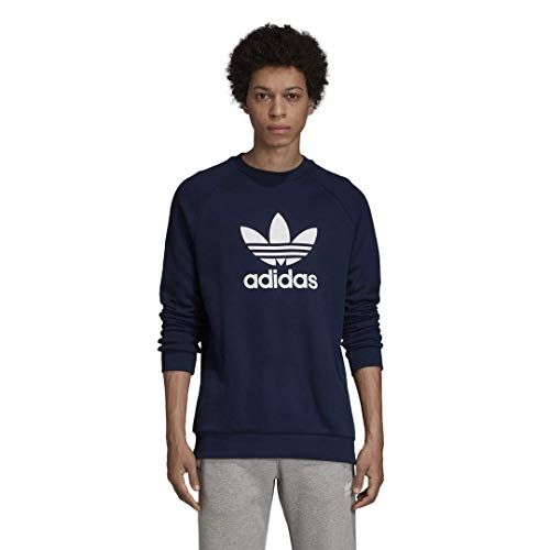 adidas Originals Men's Trefoil Crewneck Sweatshirt, collegiate Navy, Medium