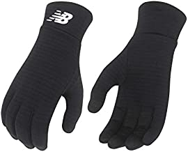 New Balance NB Grid Fleece Heavyweight Gloves, Black, L/XL