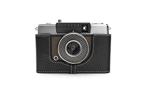 Handgemaakte Echt Lederen Halve Camera Hoesje Hoes voor Olympus PEN EE Film Camera Zwart Kleur