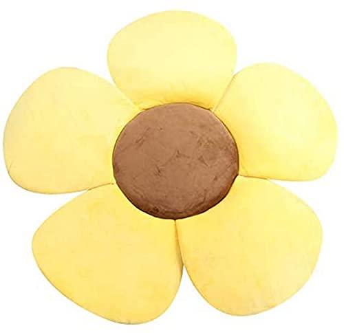 AOOPOO Materassino da bagno a forma di fiore, cuscino da bagno per neonati portatile, imbottito e pieghevole, per vasca da bagno (Giallo)