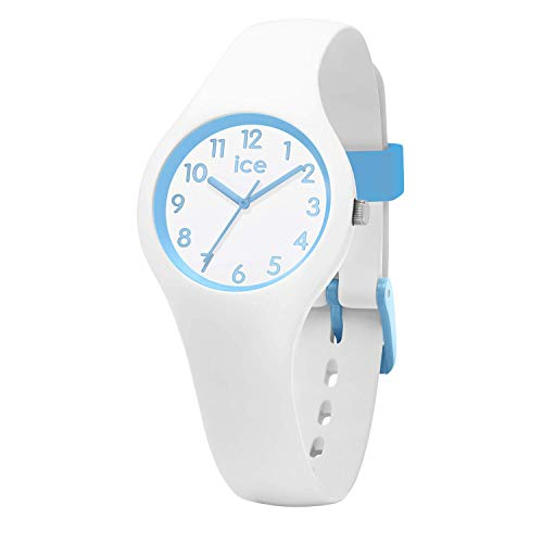 Ice-Watch - ICE ola kids Cotton white - Weiße Jungenuhr mit Silikonarmband - 015348 (Extra small)