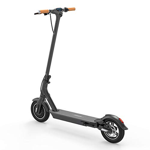 TOMOLOO Electric Scooter L1-Plus, 10'' Plus Air-Free Solid Tires Electric Scooter for Adults, Foldable Commuter Electric Scooter with Shock Absorption Spring and APP Connected Safe Lock