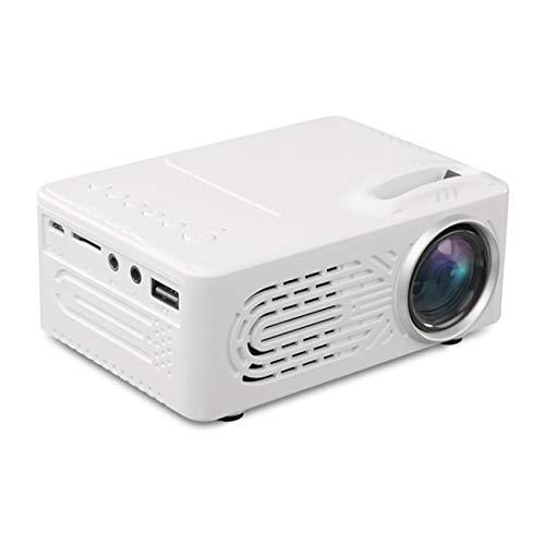 Dyna-Living Mini Beamer, Mini Projektor Full HD 1080P, 7000 Lumen Portable Projector LED Beamer ( Weiß )