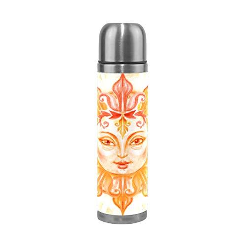 TIZORAX Acuarela Pintura Sol Con Cara Doble Pared Vacío Copa Aislada Botella De Agua De Acero Inoxidable Taza De Viaje Termo Taza De Café 17 Oz