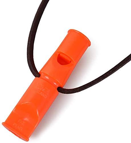 ACME Doppeltonpfeife No. 640 mit GRATIS Pfeifenband aus Leder (90mm, No. 640, DG Orange)