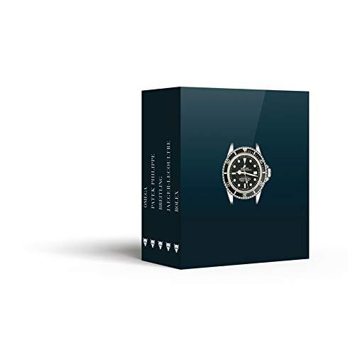 Montres d'exception : Coffret 5 volumes : Rolex ; Omega ; Patek Philippe ; Jaeger-LeCoultre ; Breitling