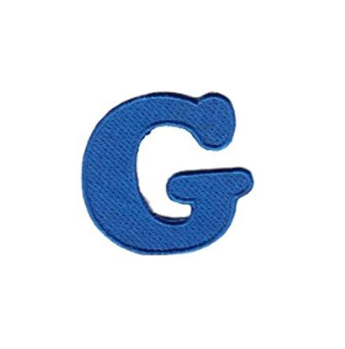 Pegatinas Marcas De Ropa Parche De Letras Azules Aplique De Bordado De Alfabeto Para Camiseta Parches De Nombre Accesorios Para Ropa-Gramo_3Pcs