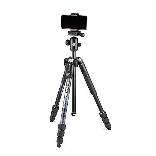 Manfrotto Element MII Mobile Bluetooth MKELMII4BMB-BH, Lightweight Aluminium Travel Tripod, with Carry Bag, Arca-Compatible Ball Head, Load up 8kg, for DSLRs, CSCs, Compact Cameras and Smartphones