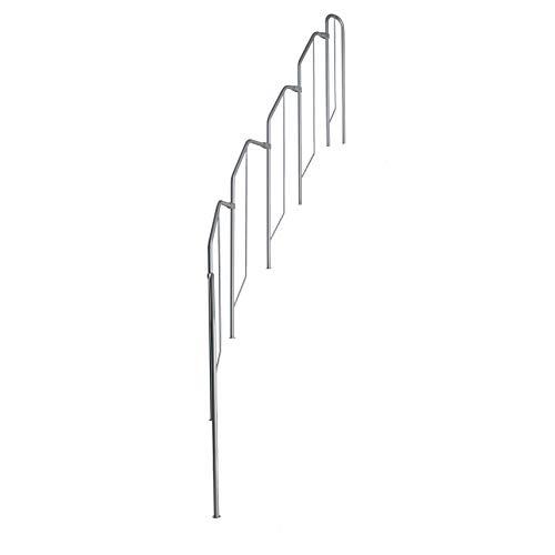 Zusätzliches Steiggeländer für Aktionstreppe/Raumspartreppe mit Buche Holz-Stufen, Lieferumfang: 5 Bügelelemente und 1 Oberelement, Treppengeländer
