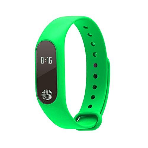 B Blesiya M2 - Reloj inteligente con monitor de frecuencia cardíaca, presión arterial, monitor de presión arterial 0.42inch Verde