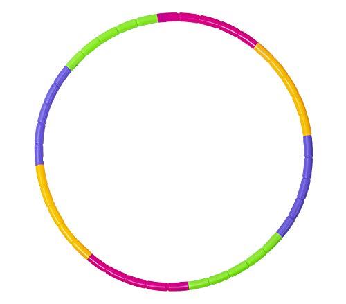 Lemong Hula-Hoop-Reifen für Kinder, zerlegbar, klein, für Training, Sport & Spiel Quan, mehrfarbig, NEW 8