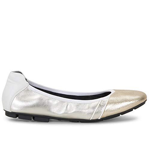 Hogan Sneakers voor dames, H511, wit en goud, leer, HXW5110CP80, NL50QCG, maat