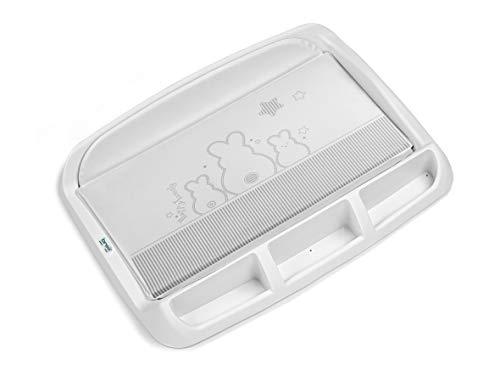 Brevi Tablet Fasciatoio Rigido con Portaoggetti e Piedini Bianconiglio
